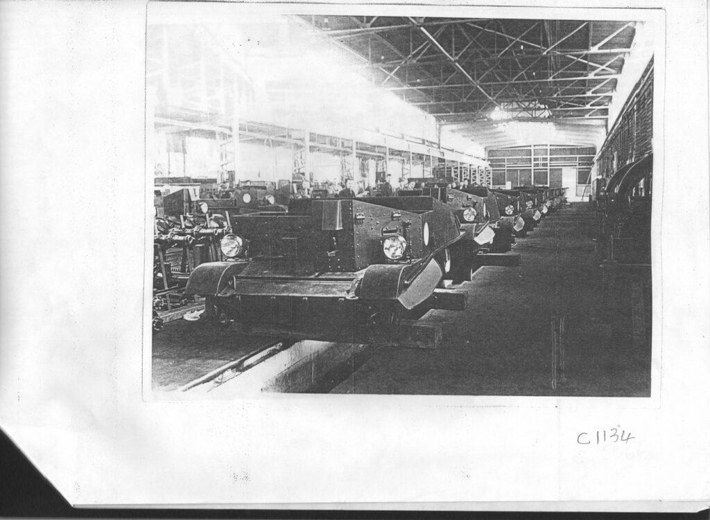 Bren carriers being assembled in NZR Woburn Hutt workshops.